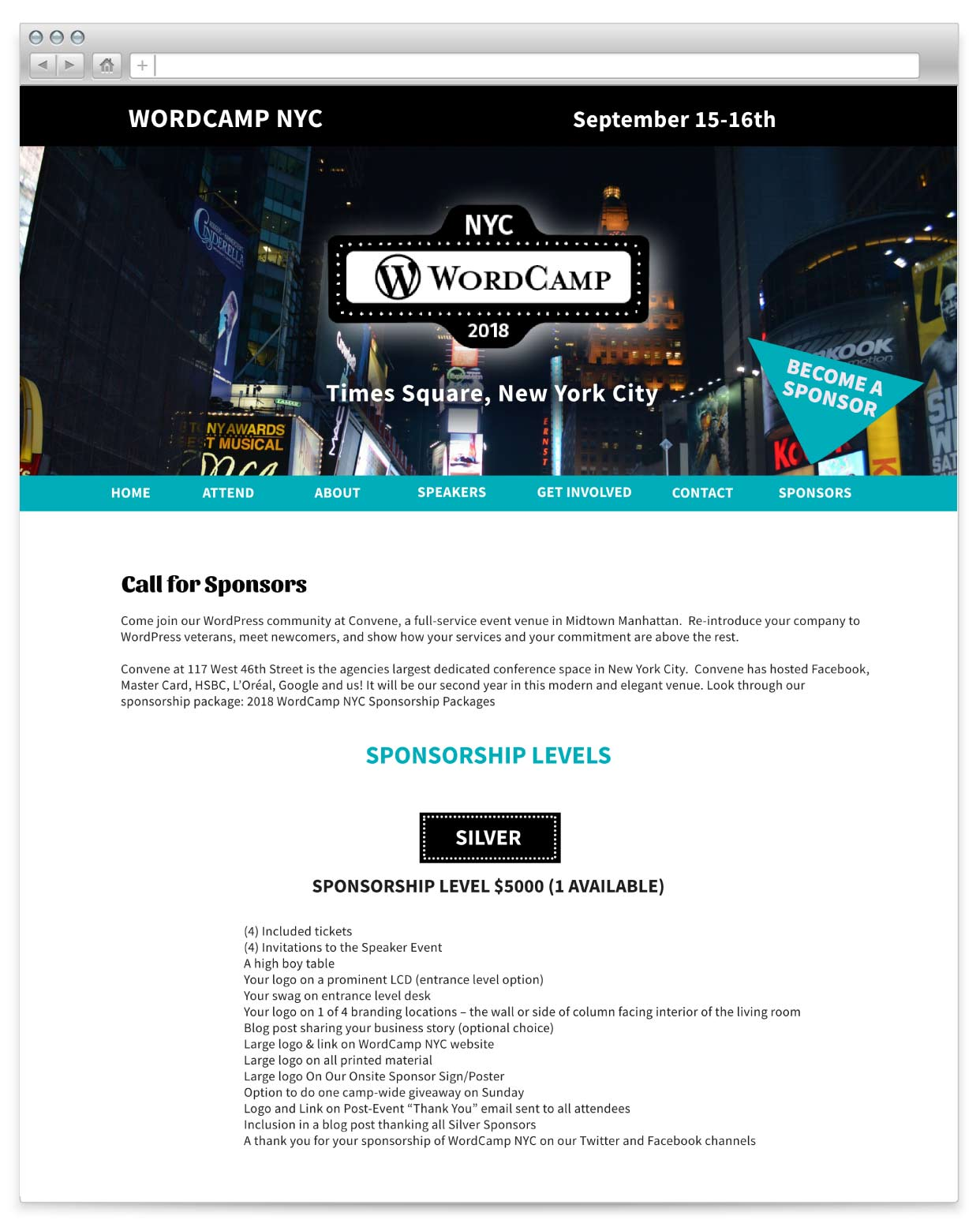 WordCamp NYC sponsor page
