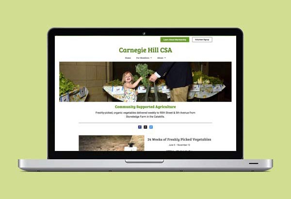 Carnegie Hill CSA Website